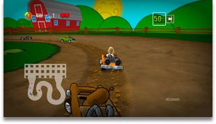Dirchie Kart Game Screen Shot 2