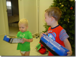 Will & Xavier Opening Presents