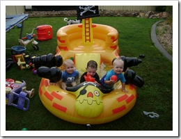 Rub a dub dub, 3 boys in a pirate ship