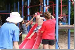 Pre School version of a water slide.