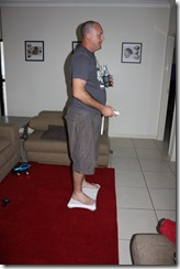 How not to take a wii fit body test.