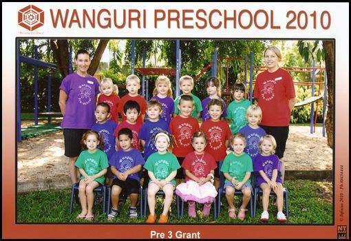 Xavier Pre-school 2010 no names