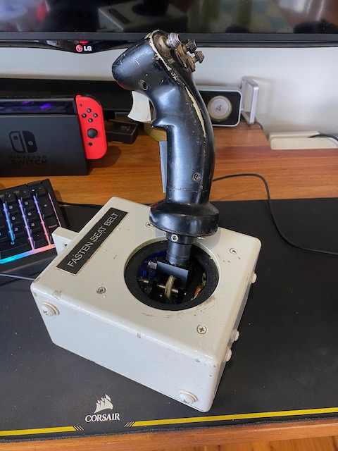 Real military joystick as a windows game controller